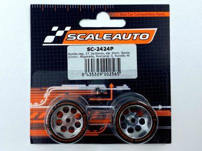 Scaleauto ProComp 3 – Moosgummi Komplettrad 27,5 x 16 mm SC-2424P