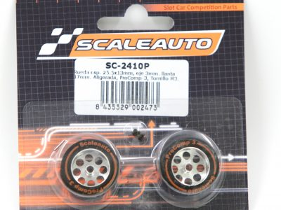 Scaleauto ProComp 3 - Moosgummi Komplettrad 25,5 x 13 mm SC-2425P