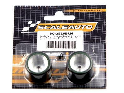 Scaleauto ProComp 4 - Kompletträder 28 x 16mm Moosgummi SC-2526BRM