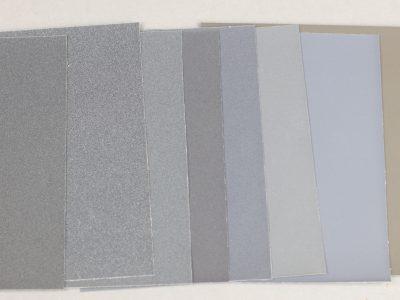 Schleifleinen von Dr. Flörke, 8 Stück mit je 1 x 1500, 1800, 2400, 3200, 4000, 6000, 8000, 12000 Körnung