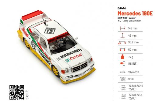 Slot.it DTM Mercedes 190E - ca44b