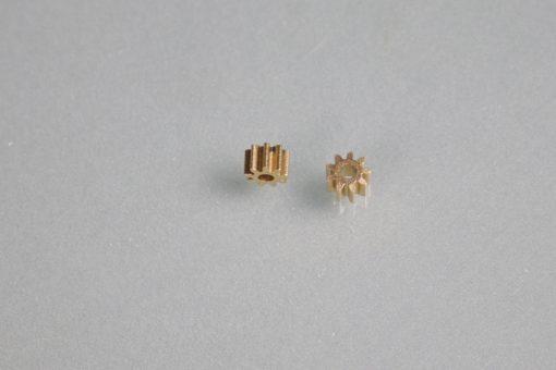 Slotcar Motorritzel Messing 9 Zähne für Motorwellen mit 2 mm Durchmesser – 220250309