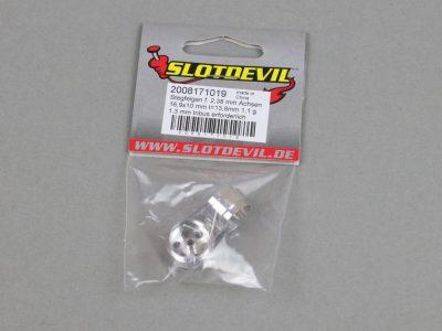 Slotcar Stegfelge 16,9 x 10 mm für 2,38 mm Slotcar-Achsen von Slotdevil 2008171019