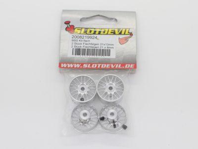 Slotdevil Flachfelgen Kit im BBS Design 21 x 8 mm für Slotcars im Maßstab 124 2008219924