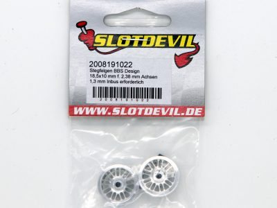Slotdevil Stegfelge BBS Design 18,5 x 10 mm für Slotcars im Maßstab 132 2008191022