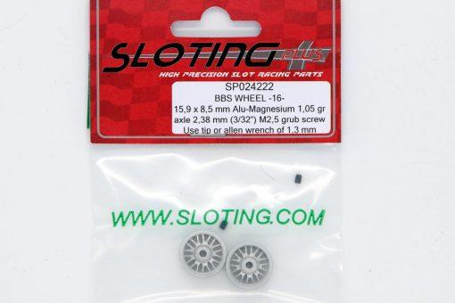 Sloting Plus Slotcar Felge 15,9 x 8,5 mm BBS 16 SP024222