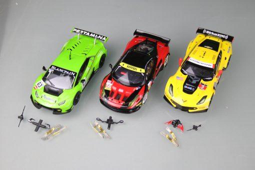 Sparset Lamborghini Huracán 30765, Ferrari 458 Italia GT2 30743, Chevrolet Corvette C7.R 30701
