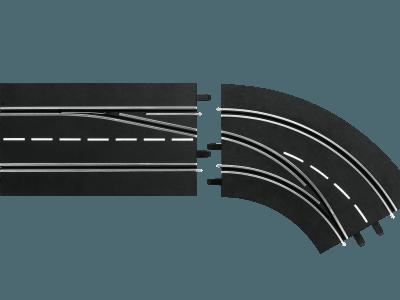 Spurwechselkurve rechts, außen nach innen 20030365