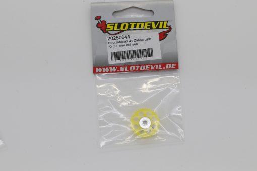 Spurzahnrad Achszahnrad 41 Zähne für 3 mm Achsen SLOTDEVIL 20250641