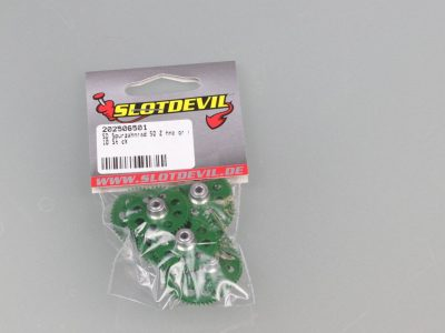 Spurzahnrad Achszahnrad 50 Zähne für 3 mm Achsen - 10er Pack SLOTDEVIL 202506501