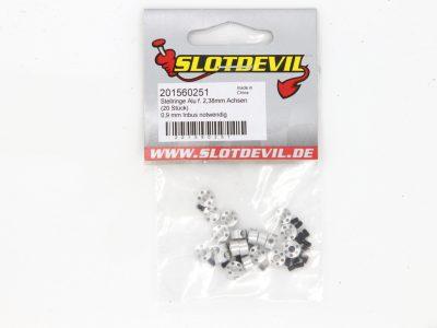 Stellring für 2,38 mm Slotcar Achsen aus Aluminium- SLOTDEVIL 201560251 (2 Stück)