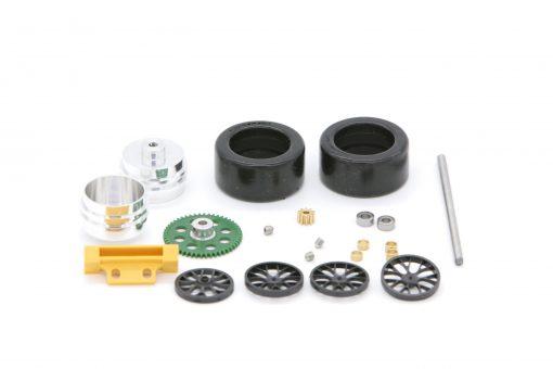 Tuning Hinterachse für Carrera Digital 124 GT und DTM Modelle mit Kunststoffzahnrad - 88640K