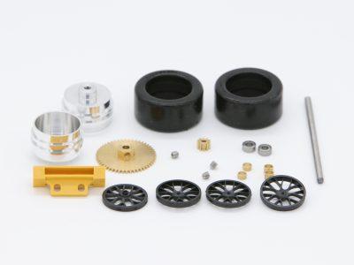 Tuning Hinterachse für Carrera Digital 124 GT und DTM Modelle mit Messingzahnrad - 88646K