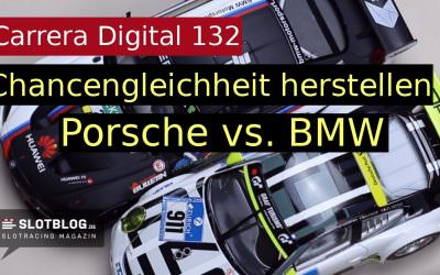Carrera Digital 132 Porsche GT3 gegen BMW M6 GT3