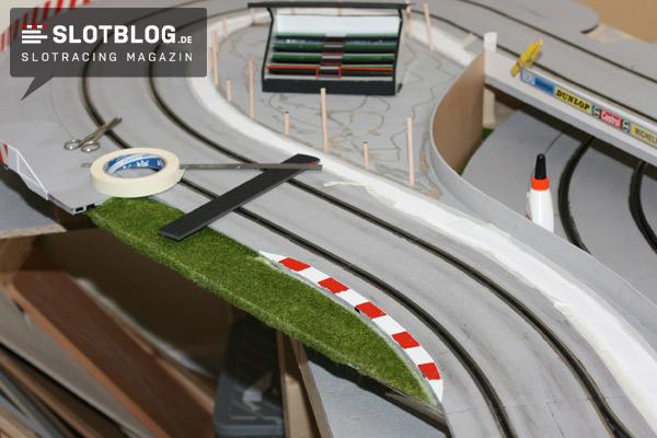 Tribüne 34,5cm lang für Carrera Rennbahn Slotcar-Rennbahn