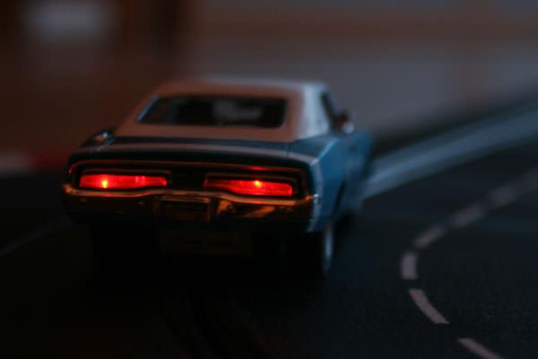 Bremslicht für den Carrera Dogde Charger