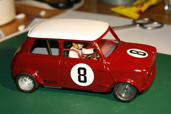 Bau eines Austin Mini Cooper Slotcars im Maßstab 1:24