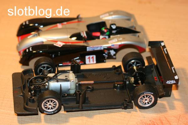 Umbau Fly Panoz auf Carrera Digital 132