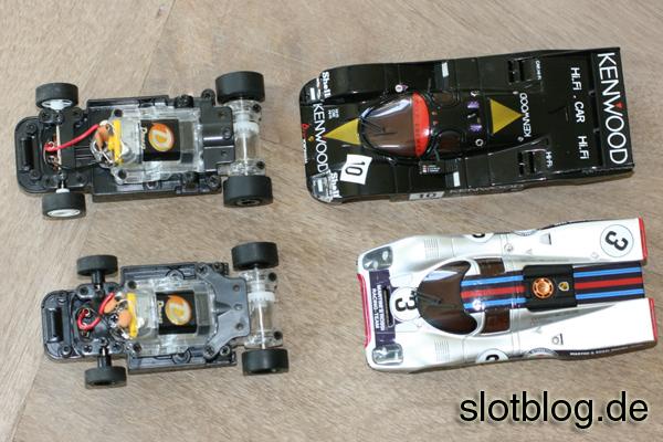 Kyosho DSlot43 Porsche 962C und Porsche 917K im Test