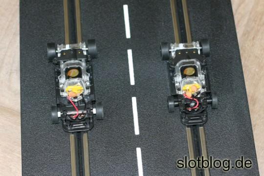 DSlot43 auf Carrera Schiene