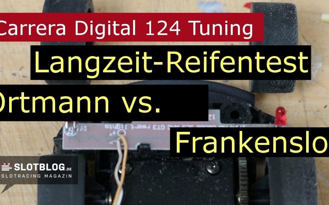 Carrera Digital 124 Tuning: Ortmann vs. Frankenslot Reifen