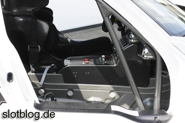 Detailaufnahmen vom Mercedes AMG SLS GT3