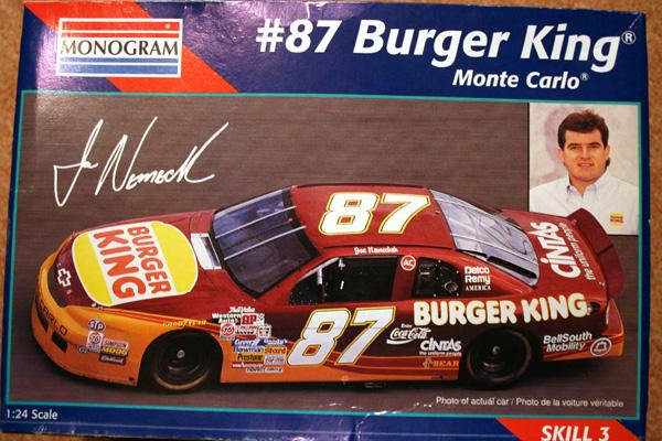 NASCAR Monte Carlo Burger King #87