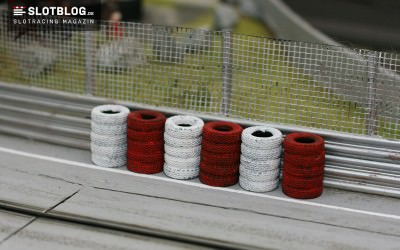 Kostengünstige Reifenstapel für die Autorennbahn