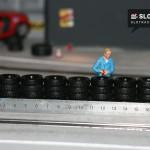 Reifenstapel für die Autorennbahn